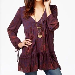 Free People Down by the Sea Top Tunic Dress